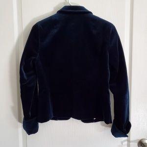 J. Crew Jackets & Coats - J. Crew Blue Velvet Ecole Blazer